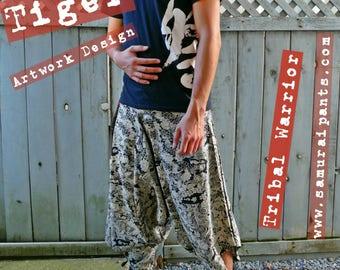 New Tiger Artwork Design Tribal Warrior Pants