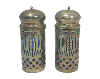 Vintage Silver-Plated Salt and Pepper Shakers-A Pair