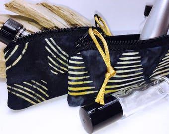 Sexy Lipstick Case, Essential Oil Pouch, Lip Balm Case, Small Zipper Pouch, Essential Oil Bag, Doterra Oil Storage, Small Change Purse