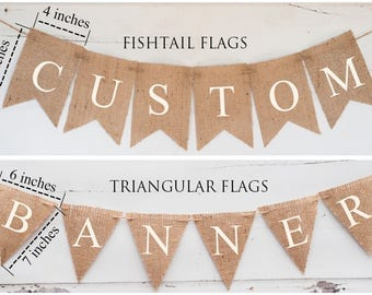 Custom Banner, Personalized Banner, Design Your Own Banner, DIY Custom Banner, Burlap Banner,