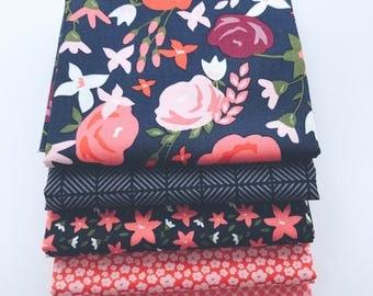 1/2 Yard Bundle Posy Garden by Carina Gardner for Riley Blake Designs - 5 Fabrics