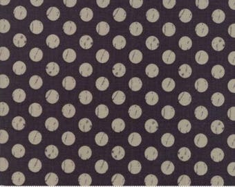 1 Yard Farmers Daughter by By Vanessa Goertzen of Lella Boutique for Moda- 5055-12 Shabby Dot Charcoal