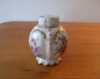 Vintage floral ginger jar with lid