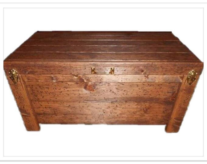 Wood Hope Chest Hidden Compartment