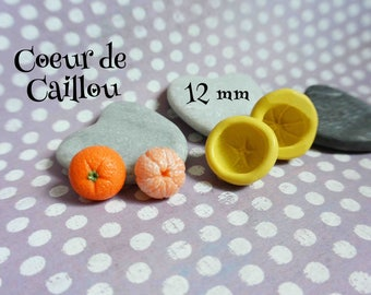 Set of 2 molds Tangerine polymer clay or resin rock heart exclusive creation