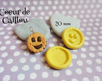 2 molds biscuit cookie, for polymer clay (Fimo, sculpey)