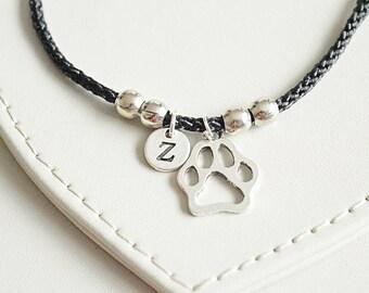 Dog bracelet, Pet loss gifts, Dog paw bracelet, Personalized dog gifts, Paw bracelet, Dog loss gift, Paw print dog charm, Paw print jewelry