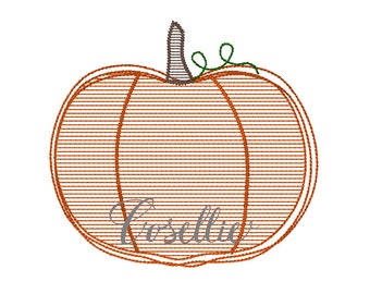 Pumpkin embroidery design, Fall embroidery design, Vintage stitch pumpkin, Thanksgiving embroidery design, Vintage Thanksgiving
