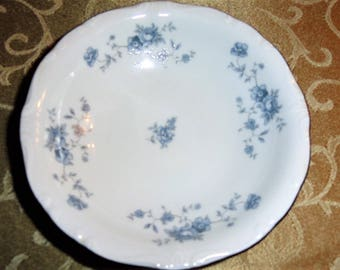 Vintage Mid Century Blue Garland Fine China Johann Haviland Bavaria Germany Dessert/Berry Bowl