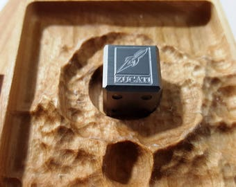 Zucati EleMetal™: Meteorite Logo Die with Impact Crater Case in Cherry (Rocket) 4/4