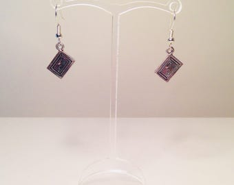 Secret Diary Tibetan Silver Dangle Earrings