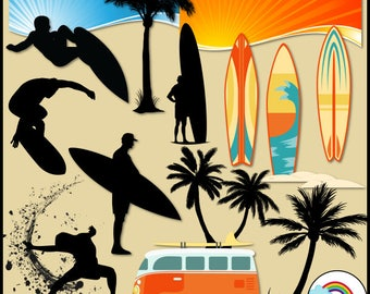 Surf's Up Clip Art Graphics
