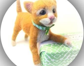 Ginger Poseable Kitty Cat Kitten