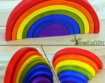 Toddler Activity Toy, Wooden Rainbow, Busy Baby Toy, Wood Puzzle, Eco Friendly Toy, Educational Toy, Wooden toy, Montessori toy, Waldorf Toy