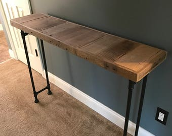 Reclaimed Barn Wood Sofa Table