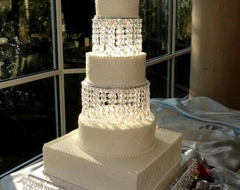 3 set Wedding Cake Stand/Chandelier Wedding Cake stand/Crystal Cake Stand/Chandelier cake stand