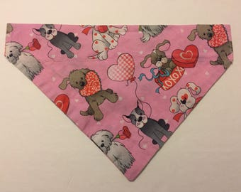 Dog bandana, Valentine's Day dogs and hearts