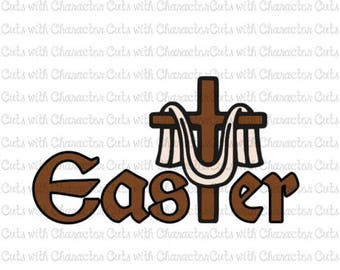 ON SALE Easter Cross SVG Dxf and Png Files for Cutting Machines Cameo, Cricut or Scan 'N' Cut