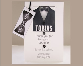 Personalised Best Man / Usher / Groomsman card