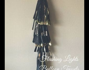 Flashing Lights, Hollywood, Glitz, Nights, Silver, Gold, Black, Balloon, Tissue, Tassels