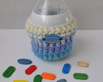 One of a kind Crochet Baby bottle Cosy for Tommee Tippee 150ml baby milk feeding bottle
