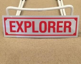 Explorer Text Decal