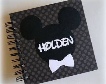 2018 80 pgs polka dots PERSONALIZED  Disney Autograph Book Scrapbook Use it as a  Vacation Photo Book 1811