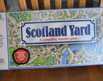 Vintage 1985 Scotland Yard Board Game Complete Milton & Bradley Europe Award Winning London Detective