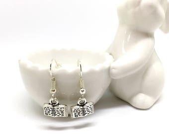 Book earrings - bookworm earrings - bookworm gifts