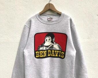 BIG SALE Vintage 90s Ben Davis Sweatshirt / Ben Davis Workers Sweater / Ben Davis Sweater / Skater