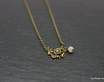 Ella, pendant, necklace flower pendant