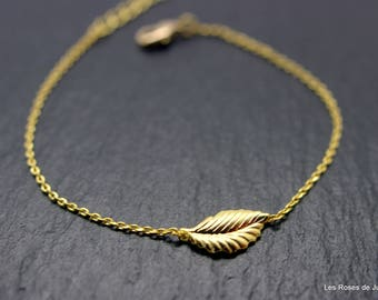 mini bracelet gold leaf