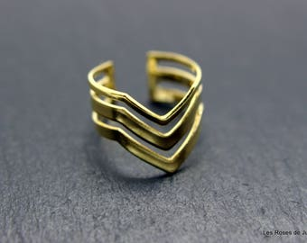 Golden Inca Adjustable ring, ring
