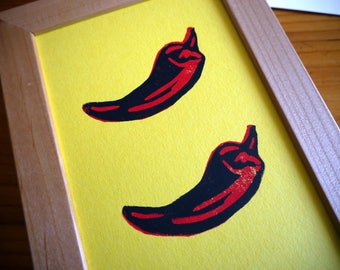 "Red Peppers Print 4"" x 6"""