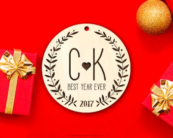 2018 Personalized Christmas Ornament Gift Wood First Christmas