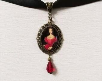 Elizabeth Bathory choker necklace collar gotico gothic collana bloody countess Erzsébet Báthory jewellry pendant Erzebeth Bathory