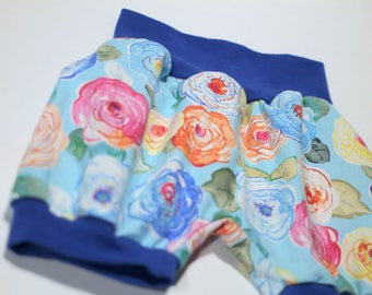 Short pants - shorts baby 0-3 months / 3-6 months / 6-12 months - flowers.