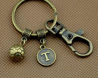 Basketball keychain, basketball charm, sports keychain, personalized keychain, initial keychain, customized keychain, monogram-Y1719-1