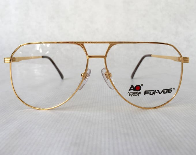 20K Gold Plated American Optical Ful-Vue 9302 Vintage Eyeglasses NOS Made in the USA