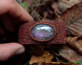 Labradorite Macrame bracelet