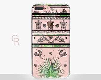 Tribal iPhone SE Clear Case - Clear Case - For iPhone 8 - iPhone X - iPhone 7 Plus - iPhone 6 - iPhone 6S - iPhone SE Transparent - Samsung