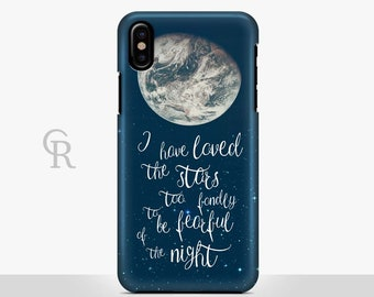 Moon Phone Case For iPhone 8 iPhone 8 Plus - iPhone X - iPhone 7 Plus - iPhone 6 - iPhone 6S - iPhone SE Samsung S8 Quote Inspirational