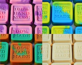 BULK x 100 Handmade Soaps - Coconut Cream, Rose Geranium, Sun and Surf, Orange and peppermint - 25 of Each