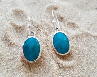 Silver 'Eilat stone' earrings