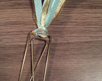 Gold/Light Blue Jumbo Clip