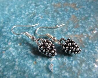 Pine cone earrings, forest earrings, pine cone jewelry
