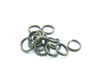6mm double round BRONZE rings