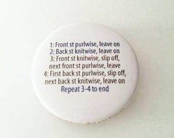 """1.50"""" Pinback button for Kitchener Stitch"""