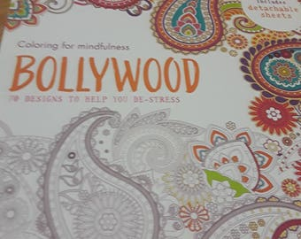 Bollywood Inspired Adult Coloring Book/Bollywood/Indian Style/Adult Coloring Books