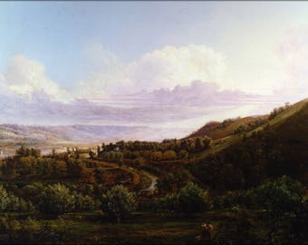 Poster, Many Sizes Available; Henry Lovie View Of Bald Face Creek In The Ohio River Valley